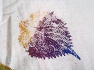 紫蘇葉子拓印
